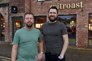 Spitroast Ormskirk owner Adam Lunt and General Manager Marc Allen, right.