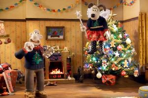 Wallace and Gromit in their new Christmas hit advert