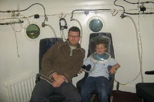Joseph Wilkin in the chamber with his dad