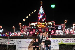 The Tipping family lights switch-on