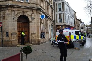 Police surround Lancaster bank following incident