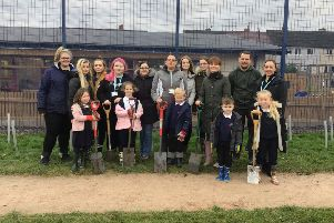 Heysham pupils work with Lancaster & Morecambe College students to create new nature corridor
