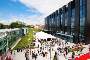 Outside graduations at UCLan