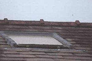 The 'UPVC skylight' turned out to be a single glazed wooden one Credit: Trading Standards
