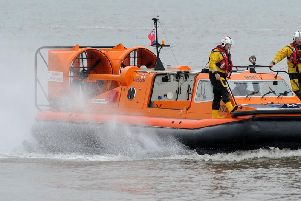 Morecambe RNLI hovercraft was called