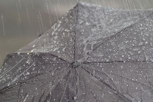 Heavy rain and strong gusts are expected today