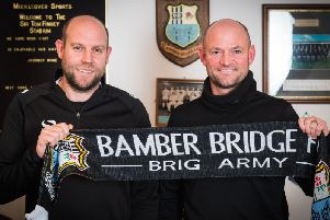 New Brig boss Jamie Milligan with assistant John Hills'Photo:Ruth Hornby