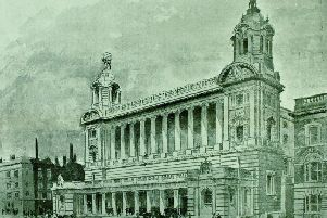The Liverpool Cotton Exchange building came under attack by suffragettes