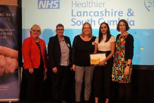 The Its Your Move team  has won an award for its work in trying to retain staff in the county's NHS