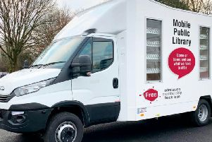 One of the new mobile library vans bought by LCC