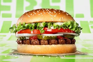 The Rebel Whopper, which is made from soy, is not suitable for vegans or vegetarians because of the way it is cooked.