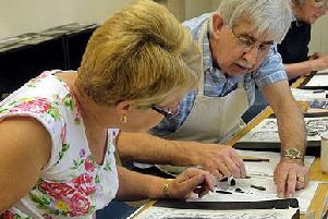 Join in with a painting class, today at St Georges Hall, Preston