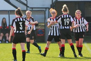 Chorley FC Women in action at Victory Park