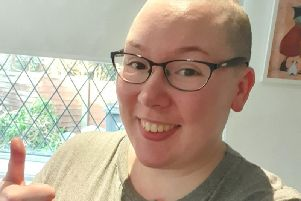 Miriam Cowlishaw, an operating department practitioner at Royal Preston Hospital, decided to shave her head as part of Macmillans annual Brave the Shave campaign.