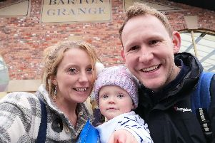 Vicki Farrington, of Preston, with her husband Stephen and daughter Sophia-Rose.