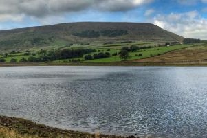 y A view from Black Moss reservoir to Pendle Hill pic: S. Willoughby
