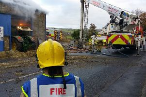 Huge barn blaze being treated as arson