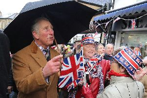 Crowds braved the weather to meet Prince Charles in Clitheroe