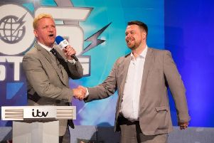 Co-founder of Impact wrestling Jeff Jarrett with Preston councillor Drew Gale.