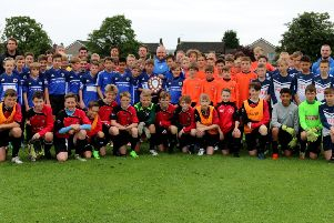 The  young players who took part in the Dave 'Ashy' Aspden Memorial Shield