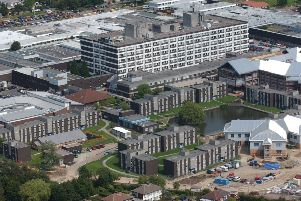 Aerial view RPH'Royal preston hospital fulwood