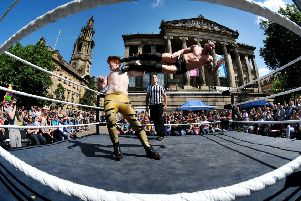 Preston City Wrestling 2016 event at Preston Flag Market