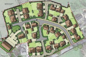 The housing layout in Grimsargh