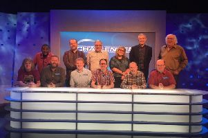 The Eggheads and their Burnley challengers (seated)