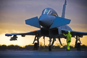 BAE's mighty Eurofighter Typhoon - built and developed on the Fylde Coast