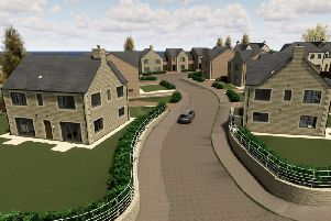 A CGI mock up of the incoming houses.