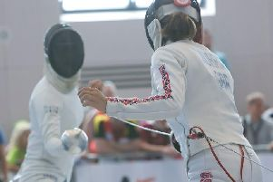 Samantha Murray in the fencing