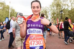 Bethan Jones has raised more than 1,600 for disability charity Sense after taking inspiration from her cousin Jack who struggles to hear.