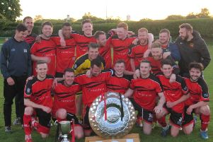 Garstang celebrate winning the West Lancashire League Premier Division title