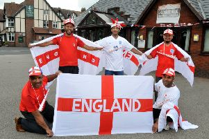 Photo Neil Cross'The staff at Hutton's Indian restaurant the Sylhet Bangla are getting ready for the World Cup and giving special offers for England games - even free meals to some fans