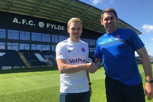 Ryan Croasdale has become AFC Fylde's record transfer after joining from Kidderminster Harriers