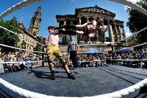 Last year's outdoor wrestling event