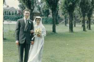 David and Shirley Baron on their wedding day