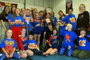 Sian Thorley, front centre, coach at Infinity Cheer, Whittle-Le-Woods, has won the Community Spirit Award for working with special educational needs group, Shooting Stars.