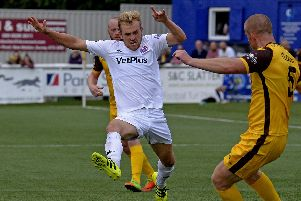 Ryan Croasdale in action for AFC Fylde