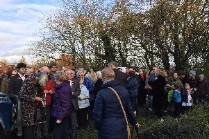 Villagers gather for Act of Remembrance at Ribchesters war memorial