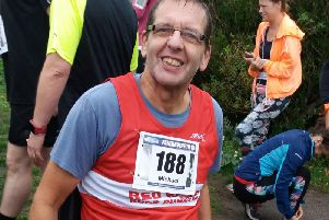 Mick Turner with the Red Rose Runners