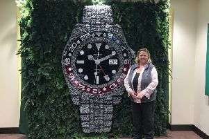 Sara with her floral Roex