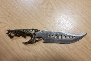 This knife was seized by police in Walton-le-Dale.