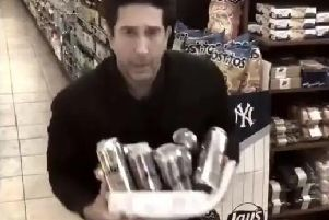 David Schwimmer, above, parodied Blackpool Police's social media appeal earlier this year, in a tweet later picked by Twitter as one of the best of 2018