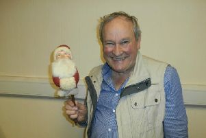 Allan Blackburn with his favourite Father Christmas