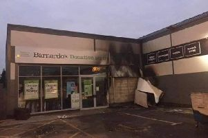 Police are seeking witnesses to a potential arson at the Barnado's charity shop in Ashton on January 3.