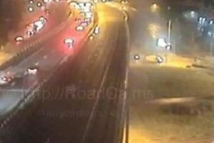 A man has been seriously injured after a number of collisions brought chaos to the M6 on Wednesday, January 16.