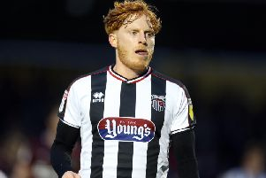 Ben Pringle in action for Grimsby