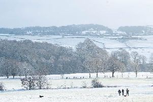 A snow covered Lancashire field