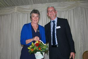 Secretary Ann Alty and chairman John Isherwood from the Lancashire Best Kept Village competition